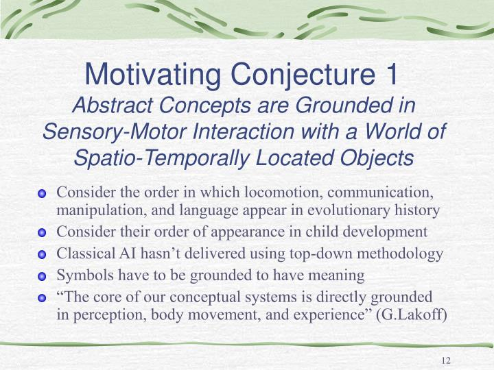 Motivating Conjecture 1