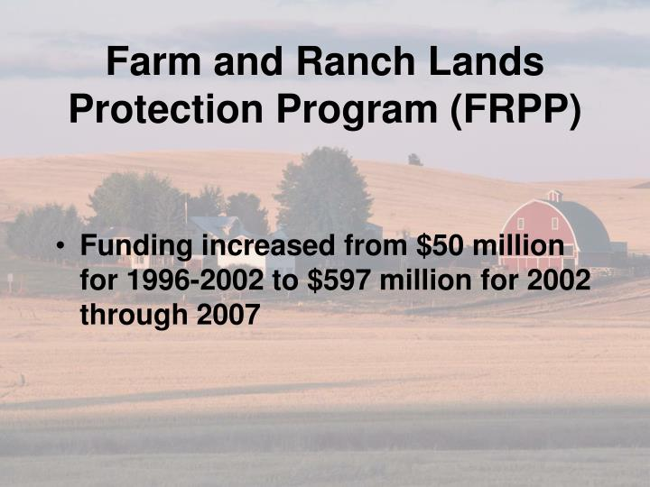 Farm and Ranch Lands Protection Program (FRPP)