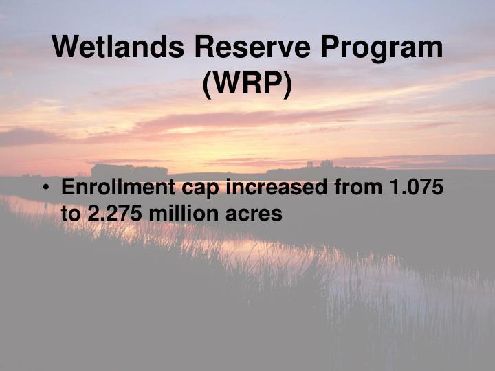 Wetlands Reserve Program (WRP)