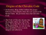 origins of the chivalric code
