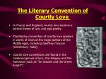 the literary convention of courtly love