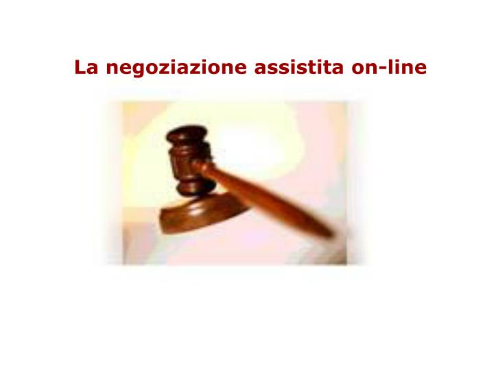 La negoziazione assistita on-line