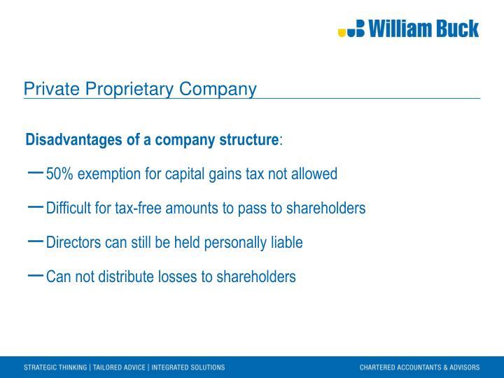 Private Proprietary Company