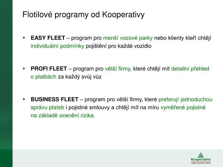 Flotilové programy od Kooperativy