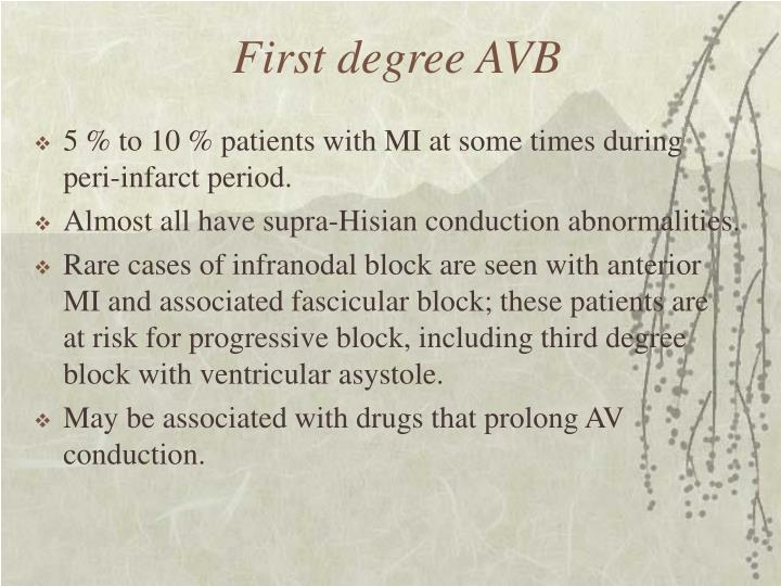 First degree AVB