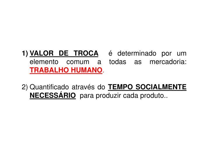 VALOR DE TROCA