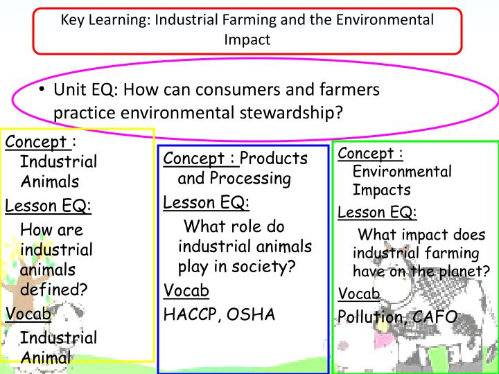 Key Learning: Industrial Farming and the Environmental Impact