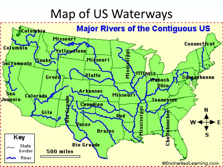 Map of US Waterways