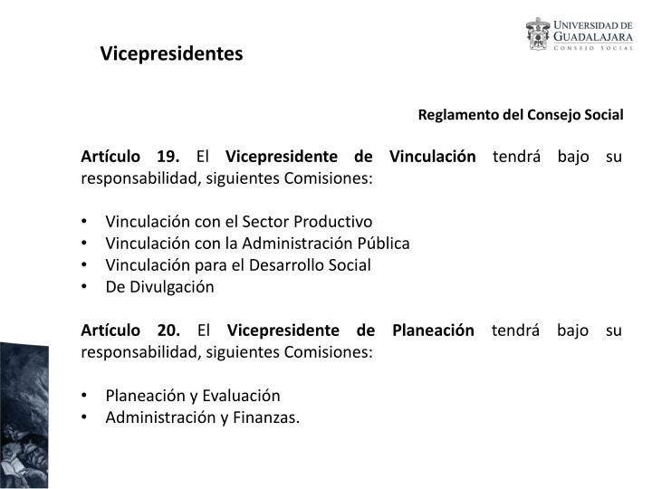 Vicepresidentes