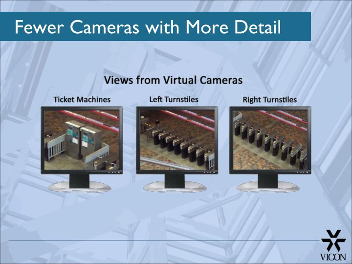 Fewer Cameras with More Detail