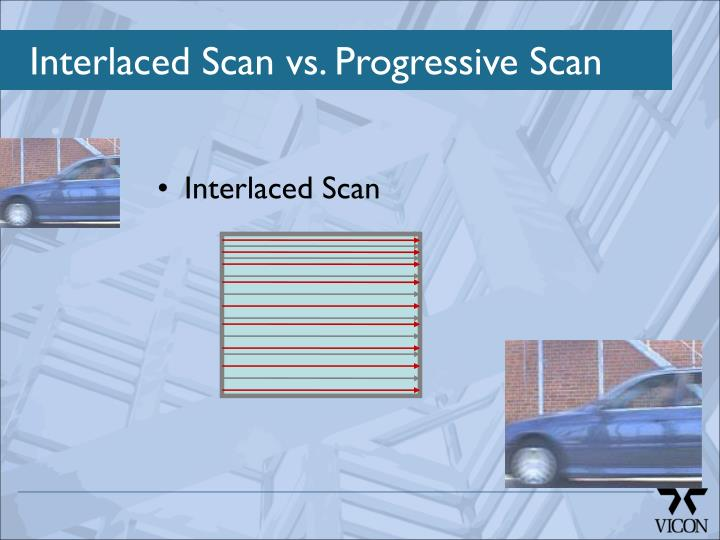 Interlaced Scan vs. Progressive Scan