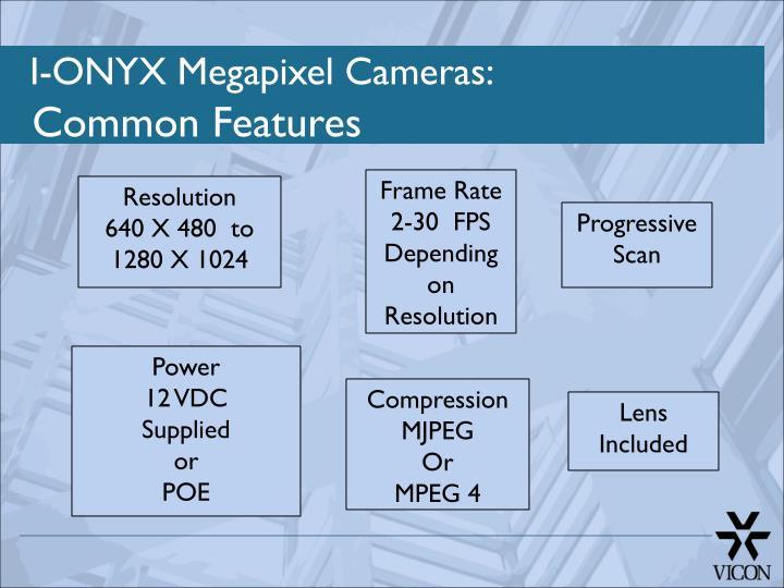 I-ONYX Megapixel Cameras: