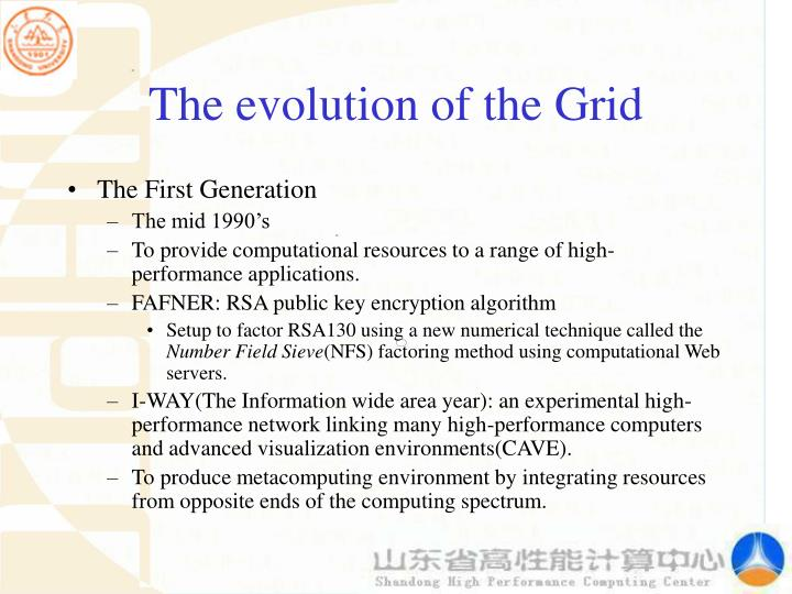 The evolution of the Grid