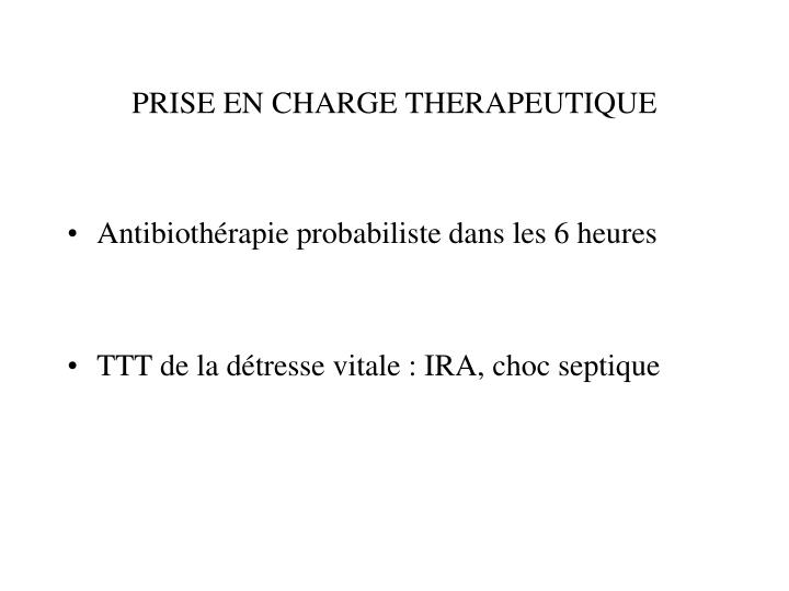 PRISE EN CHARGE THERAPEUTIQUE