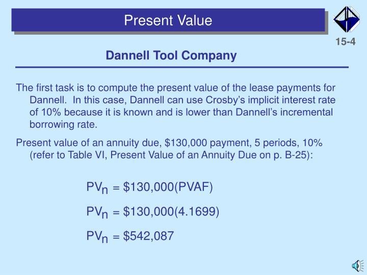 PV   = $130,000(PVAF)