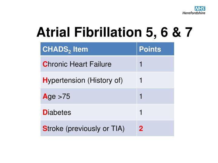 Atrial Fibrillation 5, 6 & 7