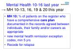 mental health 10 16 last year mh 10 13 16 19 20 this year