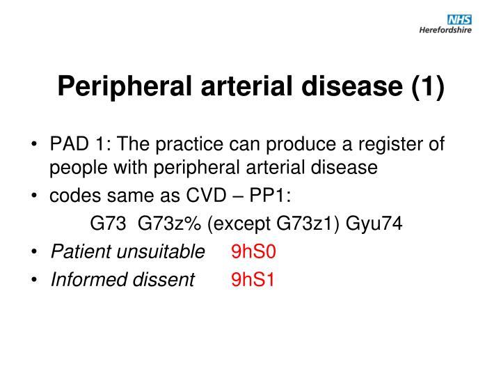 Peripheral arterial disease (1)