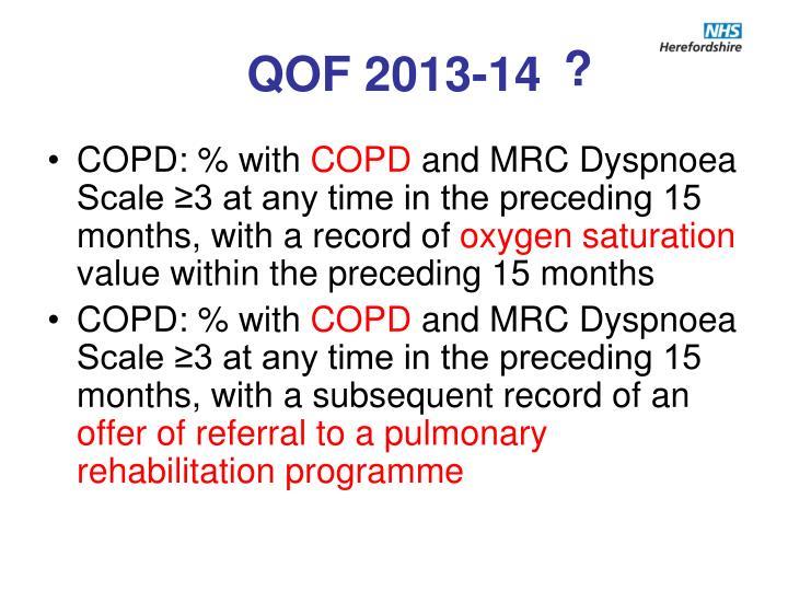 QOF 2013-14