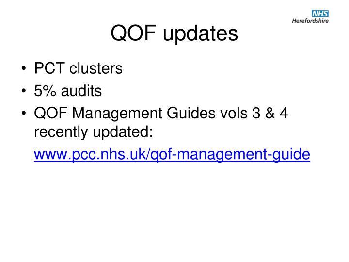 QOF updates