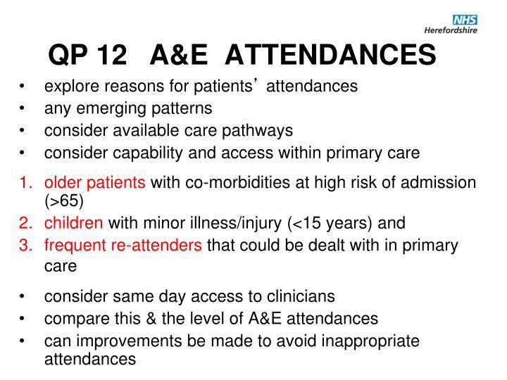 QP 12 A&E  ATTENDANCES