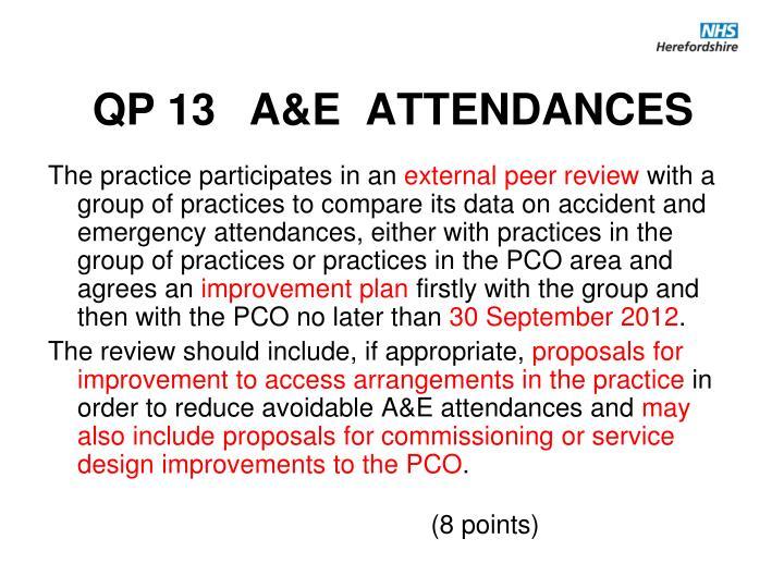 QP 13 A&E  ATTENDANCES