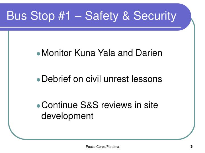 Bus Stop #1 – Safety & Security