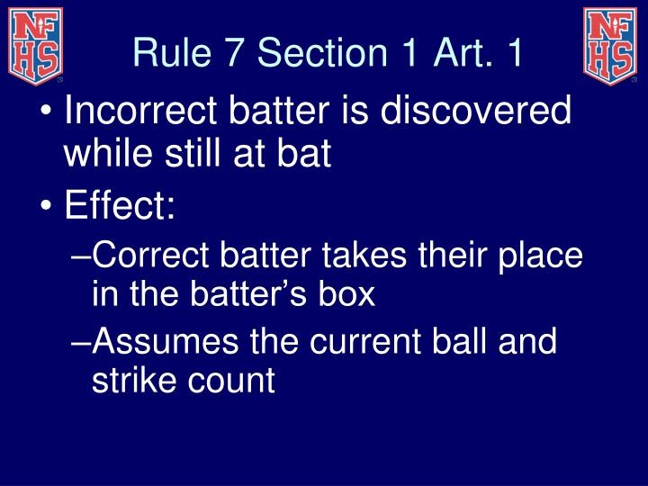 Rule 7 Section 1 Art. 1