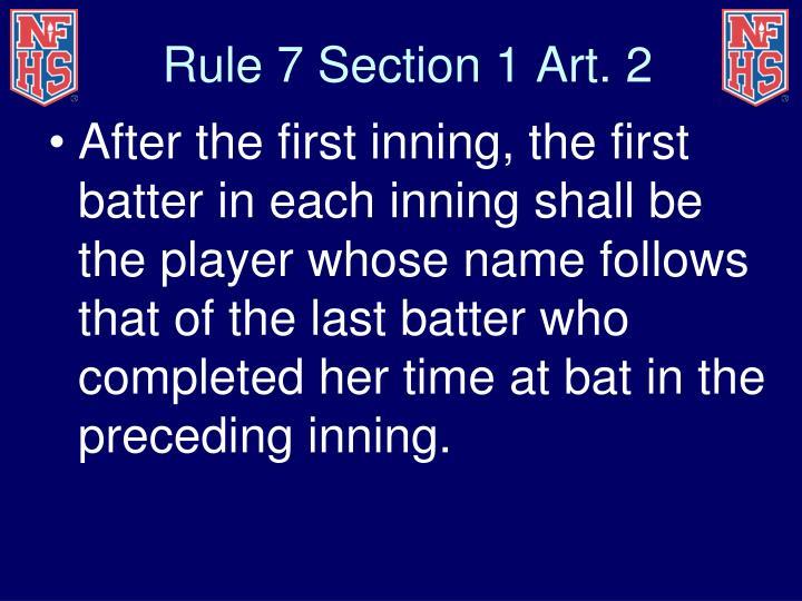 Rule 7 Section 1 Art. 2