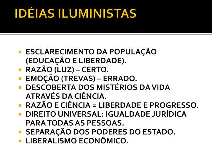 IDÉIAS ILUMINISTAS