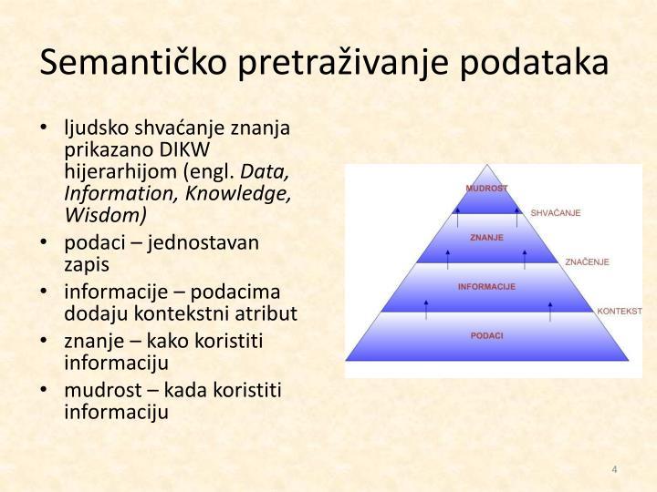 Semantičko pretraživanje podataka