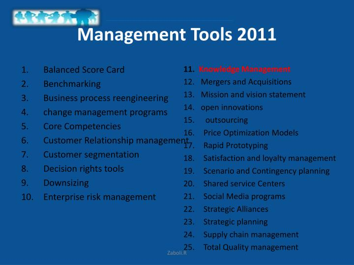 Management Tools 2011