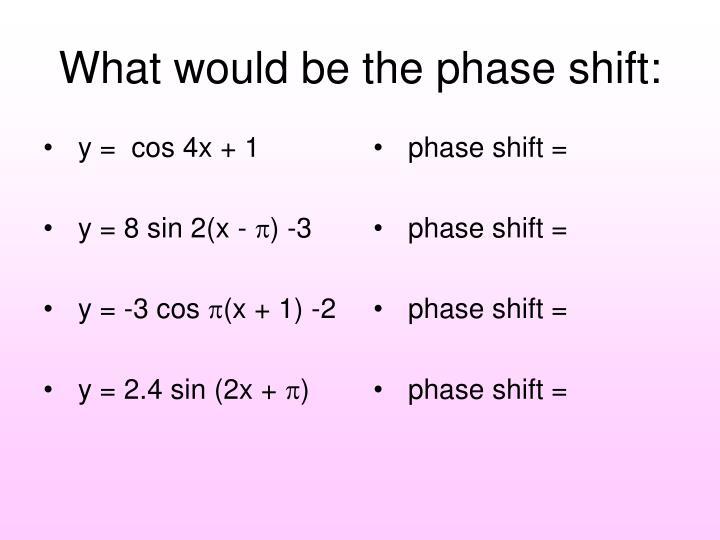 y =  cos 4x + 1