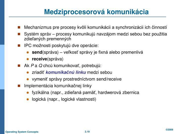 Medziprocesorová komunikácia