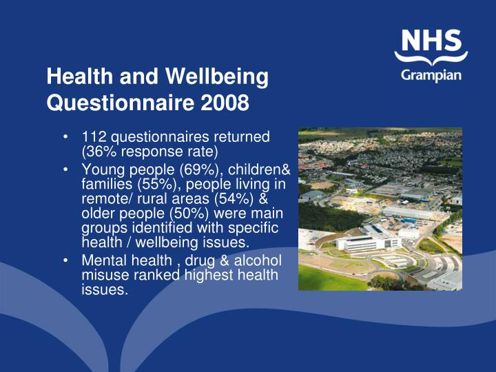 Health and Wellbeing Questionnaire 2008