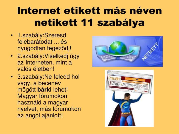 Internet etikett más néven
