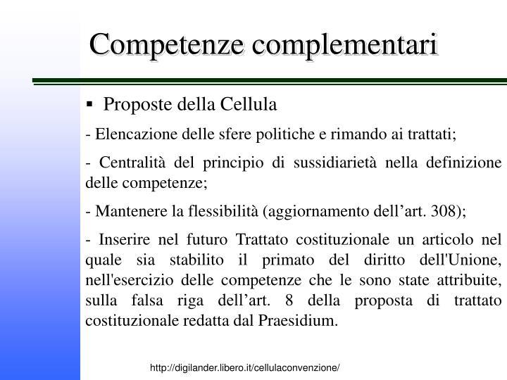 Competenze complementari