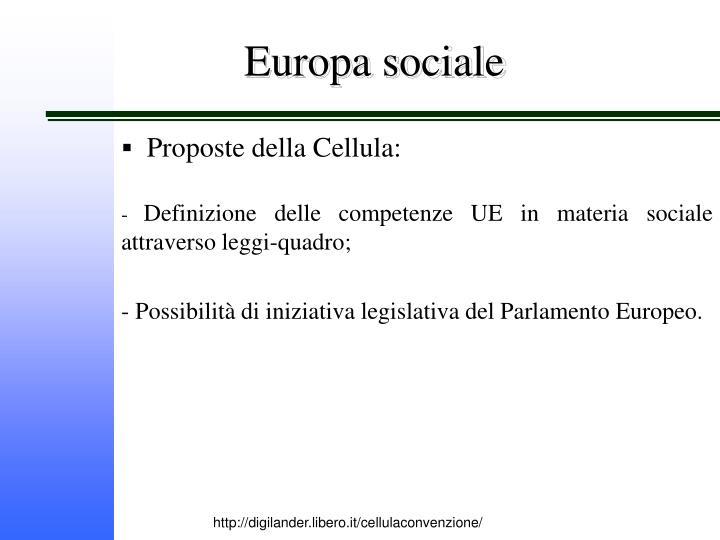 Europa sociale