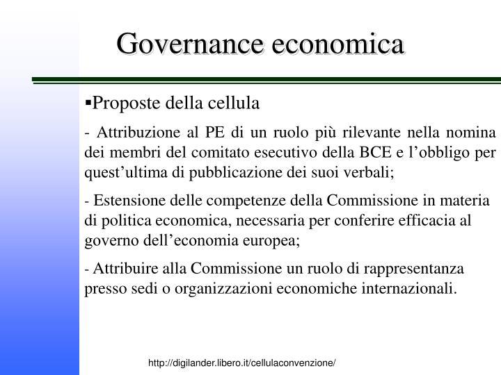 Governance economica