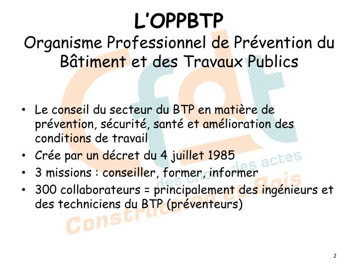 L'OPPBTP
