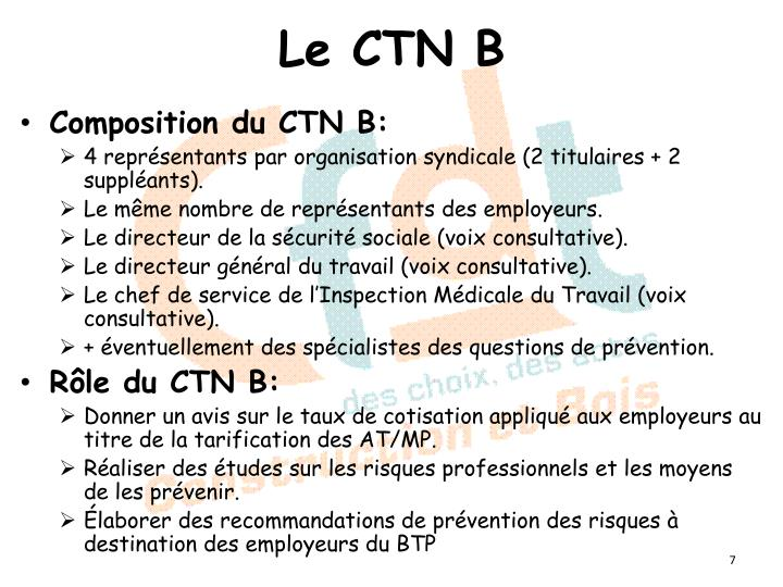 Le CTN B