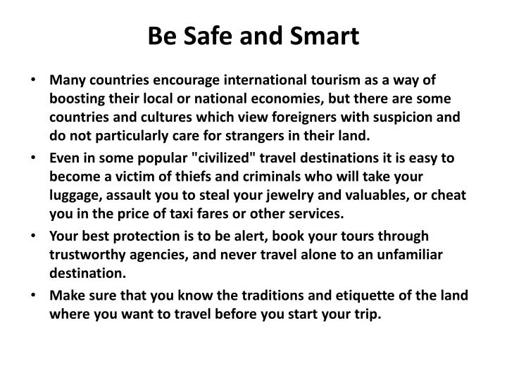 Be Safe and Smart