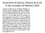 quatri me de quincy histoire de la vie et des ouvrages de raphael 1824