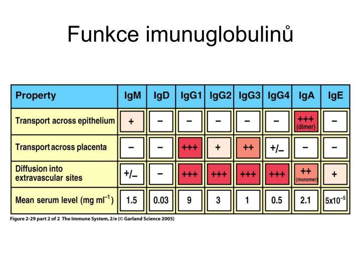 Funkce imunuglobulinů