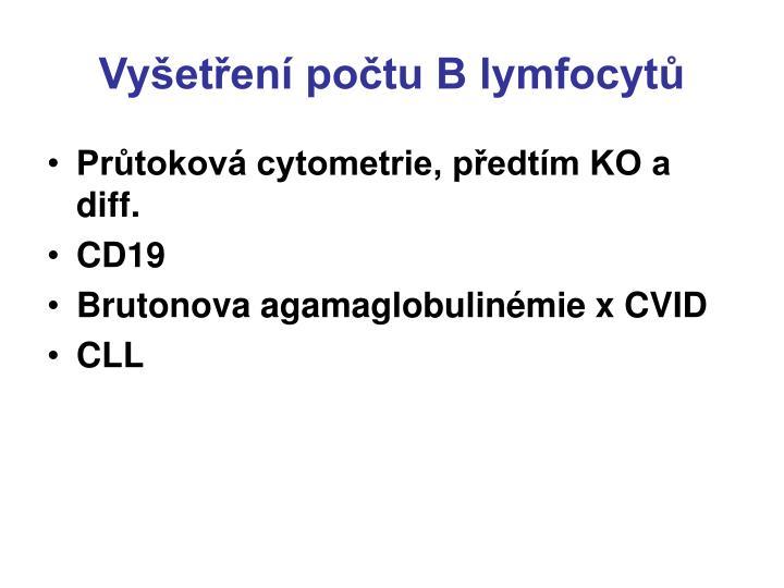 Vyšetření počtu B lymfocytů