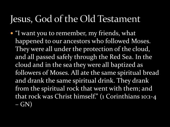 Jesus, God of the Old Testament