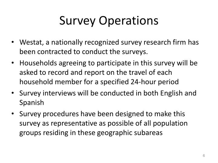 Survey Operations