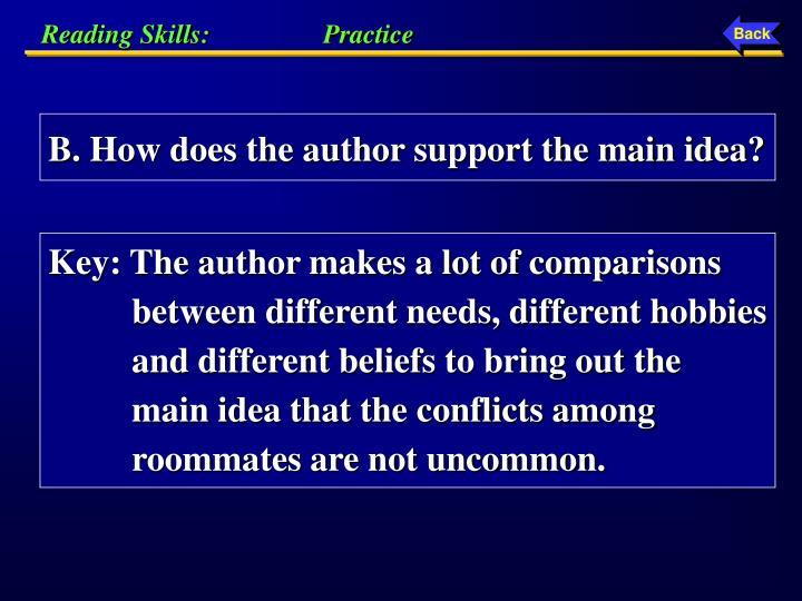 Reading Skills:                 Practice