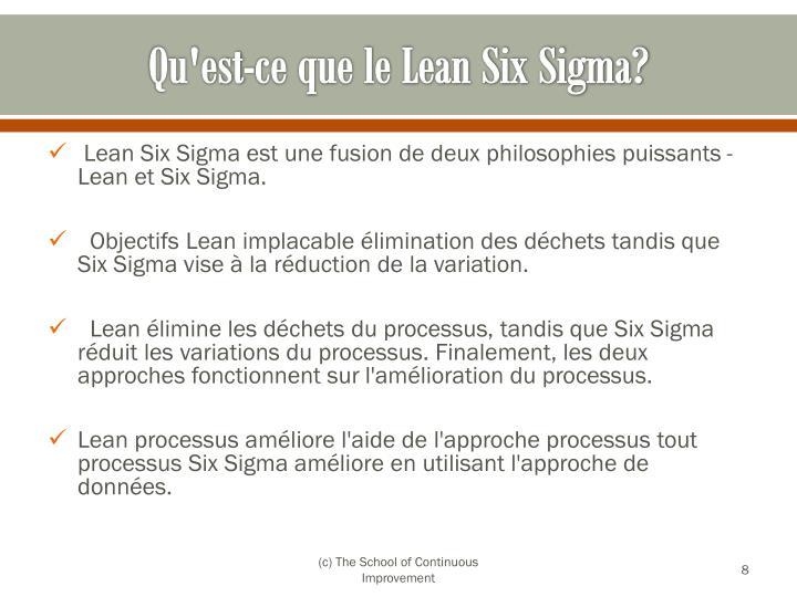 Qu'est-ce que le Lean Six Sigma?