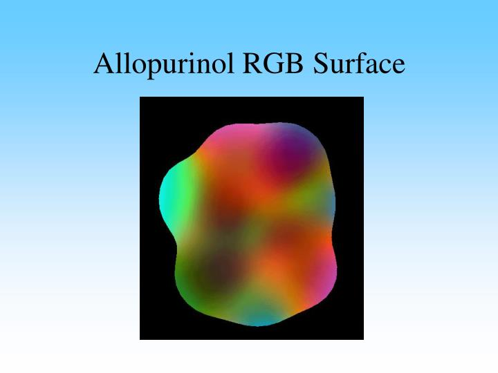 Allopurinol RGB Surface